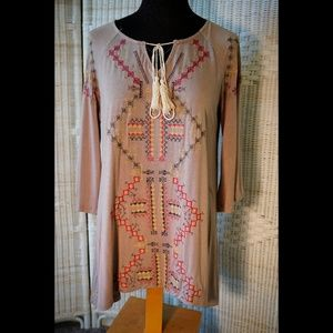 NEW:  POL tribal embroidery tunic top (oversized)